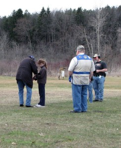 Young girl shooting shotgun trap at COSC in Dimondale Michigan