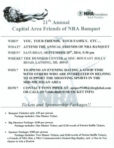 Friends of NRA Dinner flyer image.