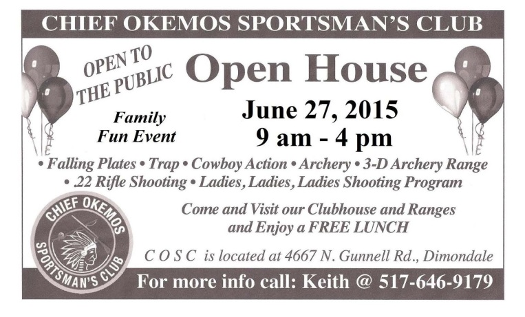 Chief Okemos Sportsmans Club Open House Graphic